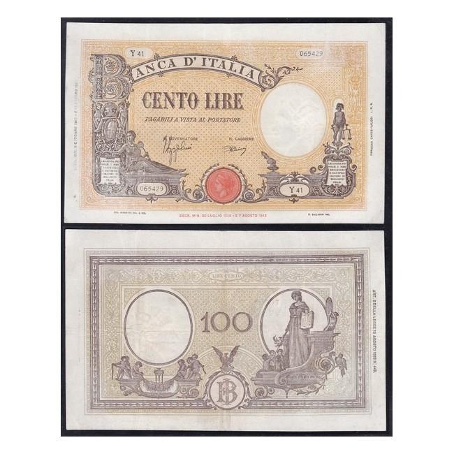 "100 Lire1943 Grande ""B"" (B.I.)"