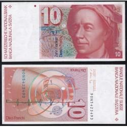 Svizzera 10 Franken 1990