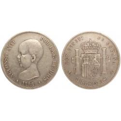 Spagna 5 Pesetas 1888